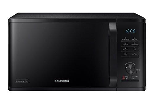 Samsung MG23K3515CK Forno Microonde, 23 Litri, 800, Grill 1100 W, Scongelamento Rapido, 330 x 324 x 211 mm, Nero