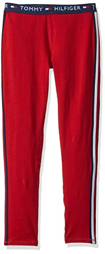 Tommy Hilfiger Toddler Girls' Active Pant, Band Scarlet Sage, 4T