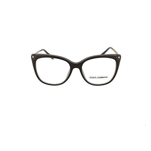 Dolce & Gabbana Eyeglasses D&G DG3294 DG/3294 501 Black Optical Frame 54mm