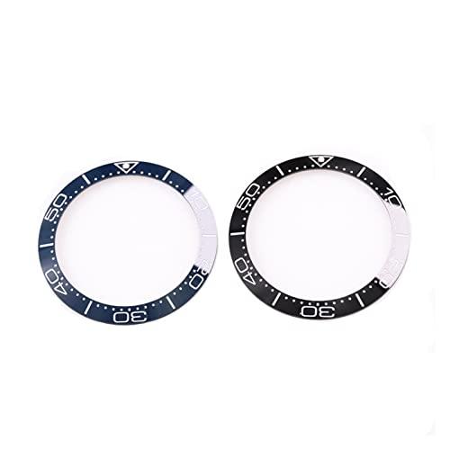 MSRRY Inserción de cerámica Anillo de Colores Reloj de dial de 38 mm Fit Fit for Omega Bezel Seamaster 300m Relojes Reemplace Las Piezas de Accesorios (Color : Blue)
