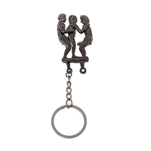 WDFVGEEMännliche Genitalien Schlüsselanhänger für Liebhaber Metall Sexy Spielzeug für Erwachsene Geschenk Autotasche Schlüsselhalter