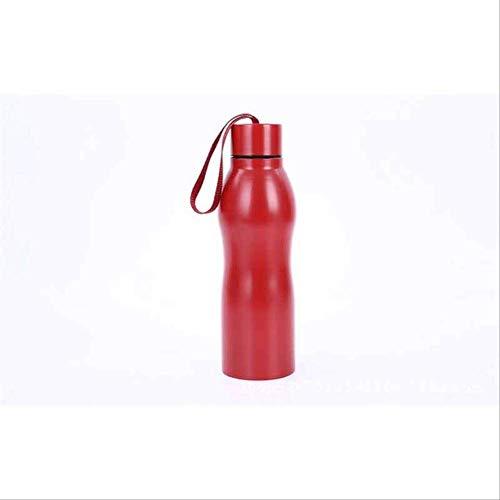 WEQRT Edelstahl-Isolierflasche Art Und Weise Kühle Große Kapazitäts-Edelstahl-Isolierungs-Schalen-Thermos-Schalen-Isolierungs-Schalen-Spezielle Wasser-Flasche 500Ml Rot Im Freien