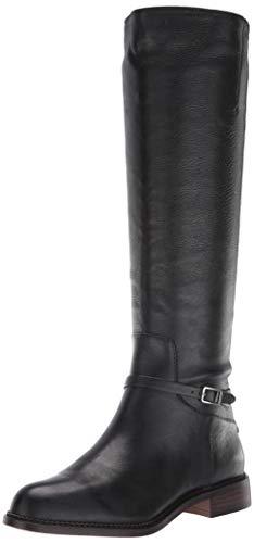 Franco Sarto Women's Haylie Knee High Boot, Black Leather, 9 M US