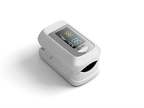 LifeVit OL-750, Pulsioxímetro con Conexión Bluetooth, Blanco