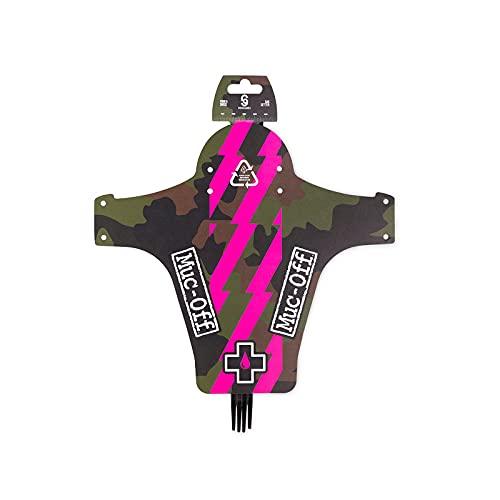 Muc Off Front Ride, Camo-Lightweight, Mud Guard for Mountain Bikes-Made from 100% Recycled Plastic Guardabarros Delantero para Bicicleta de montaña Reciclado, Unisex, Camuflaje