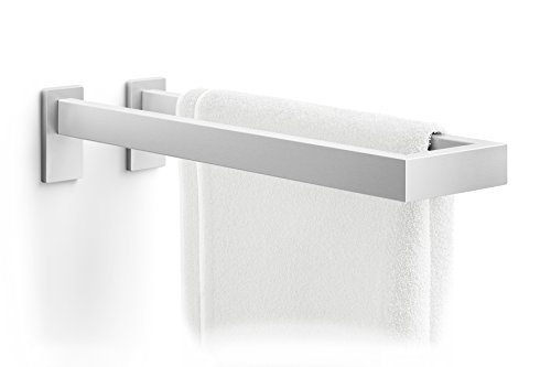 ZACK Linea Doppel-Handtuchhalter, Edelstahl, 13,3 x 8,4 x 41,9 cm, Silber-Metallic
