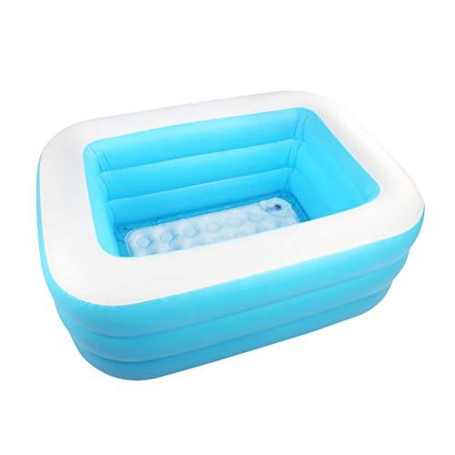 DFSDG Piscina inflable de 120/130 cm para adultos y niños, piscina al aire libre, piscina interior y bomba de pies (tamaño : 130 cm)