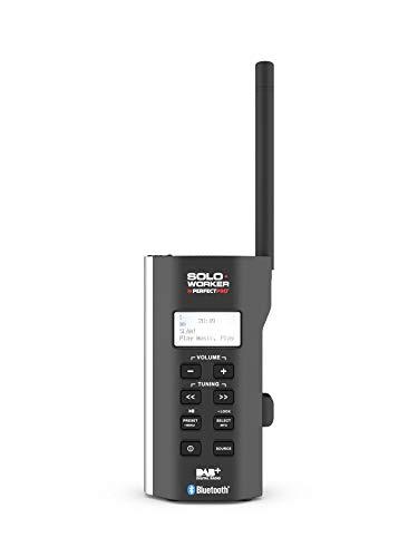PerfectPro Baustellenradio Soloworker Dab+ Bt DAB+ Digitalradio mit Bluetooth, Radio mit AUX-Eingang, Mit Akku, Sehr Kompaktes Radio