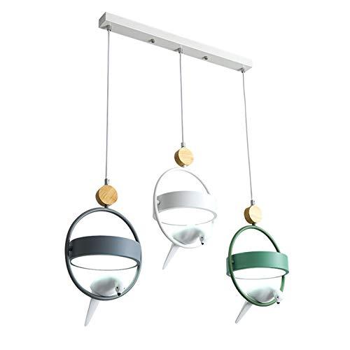 Z iluminación Nordic Restaurante 3 Cabezas de la lámpara Moderna Simple de la Barra del Arte del pájaro de la Personalidad Creativa Estudio de la Oficina de la decoración de la lámpara Fashion