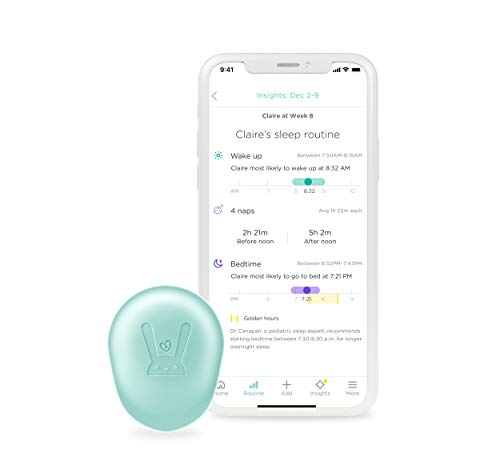 Lumi by Pampers Smart Sleep Sensor Replacement: 24/7 Baby Sleep Tracker and Routine System with Personalized Insights - Compatible with Lumi by Pampers Diapers (Sold Separately)