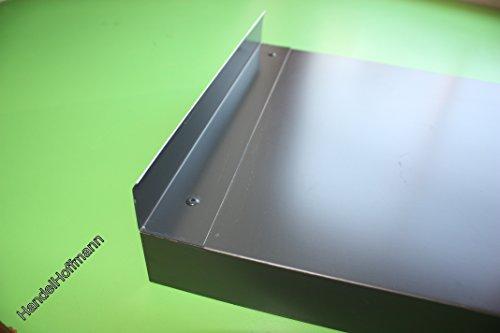 Wandanschluß für Mauerabdeckung Attika Aluminium farbig 0,8 mm (groß, Anthrazit RAL 7016)
