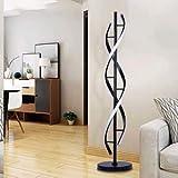 Negro Espiral Lámparas de Pie - ELINKUME Regulable LED Lámpara de Iluminación...