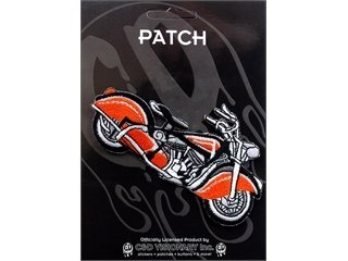 VINTAGE MOTORCYCLE Application Motorcycles Vintage Red rouge& Black noir Bike Patch pièce Iron-On / Sew-On HOT ROD Officially Licensed Car & Bike Culture Artwork Création, 2.25\