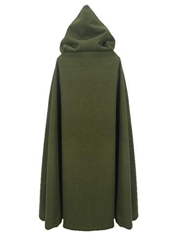 Futurino Damen Winter/Herbst Gotisch Lose Umhang mit Kapuze Mantel Poncho Kap Outwear Strickpulli Longstrickjacke - 5