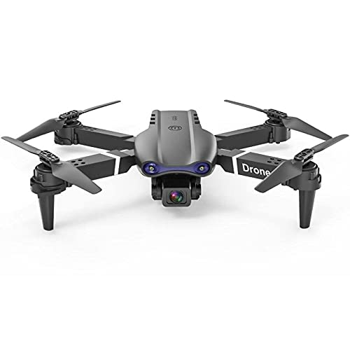 JJDSN High-Definition Machine Folding Drone 6K Double Camera Four-Axis Aircraft Remote Control Aircraft,Black-Single Camera