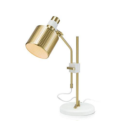 Lampen boekenlamp tafellamp leeslamp licht leren post moderne eenvoudige tafellamp kleur goud met wit of zwart metaal lamp behuizing aluminium lampenkap boek schrijvende leesverlichting