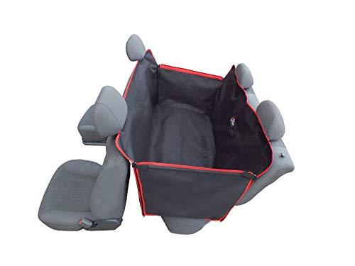 Dogs Comfort Manta universal para perros, funda para asiento trasero de coche, fabricada en tejido Codura, muy resistente y totalmente impermeable, laterales plegables.