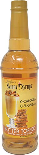 Jordan's Skinny Syrups Sugar Free Butter Toffee Coffee Syrup 750 mL Bottle with By The Cup Syrup Pump