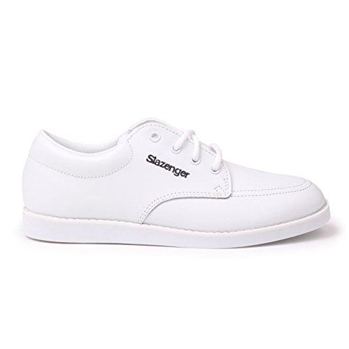 Slazenger Damen-Bowlingschuhe, Schnürschuhe, Knöchelschutz, Fußbekleidung, Weiß - weiß - Größe: 39 1/3 EU