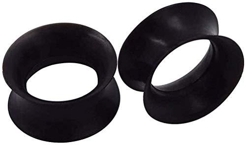 Tapones para los oídos/túneles vendidos por un par de dilatadores flexibles de silicona suave y fina calibre de calibre hueco (00 g (10 mm)