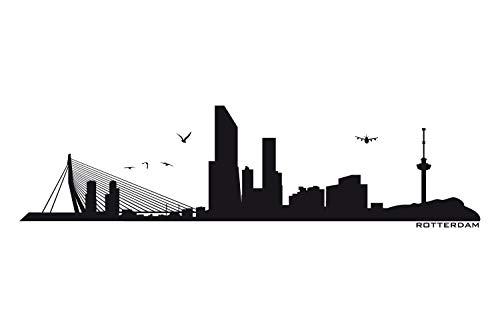universumum Wandtattoo Rotterdam Skyline uss046 Muursticker Muursticker Wall Sticker Woonkamer Slaapkamer Zelfklevend