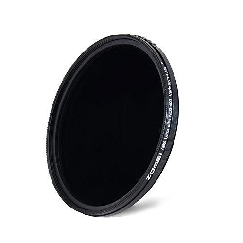 ZOMEi 67MM Ultra Slim ND2-ND400 Fader Filtro a lente regolabile a densità neutra variabile Ultra Slim ND Filtro a vetro ottico