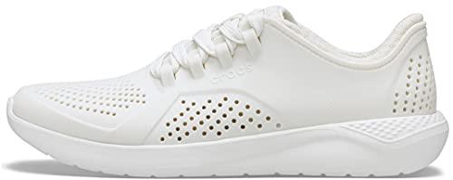 Crocs Women's LiteRide Pacer Sneakers, Almost White, 9