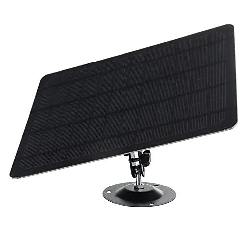 Vecksoy Conjunto De Paneles Solares con Cable De Carga Y Soporte Panel Fotovoltaico De Monitoreo Solar De Silicio Monocristalino De 10 W para Seguridad En El Hogar para Cámara Al Aire Libre