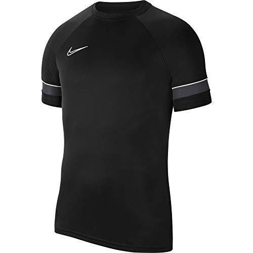NIKE Camiseta de Entrenamiento para niño Academy 21, Niños, Camiseta, CW6103-014, Negro/Blanco/Antracita/Blanco, 146-158