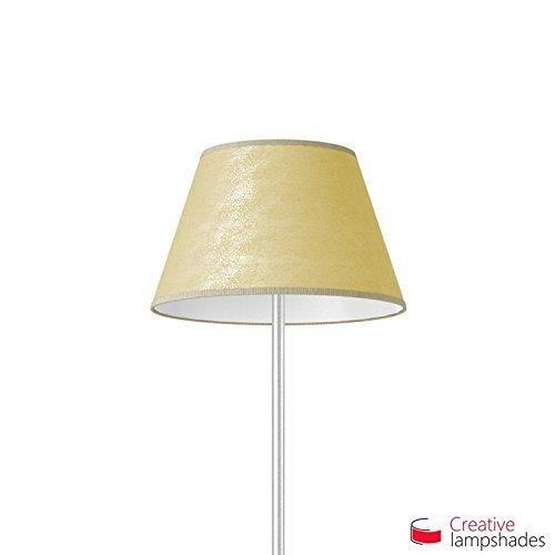 Creative Lampshades Empire Lampenschirm blattgold Metall - Durchmesser 55-33cm - H. 31cm, E27 Für Standleuchten, Nein