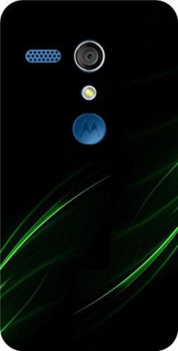 Shengshou Pattern Design Mobile Back Cover for Motorola Moto G1 1st Gen - Black Green