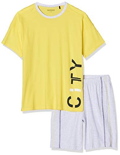 Schiesser Jungen Anzug Kurz Zweiteiliger Schlafanzug, Gelb (gelb 600), 164