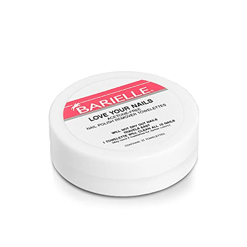 Barielle Acetone Free Nail Polish Remover Toweletts, 1 Ounce