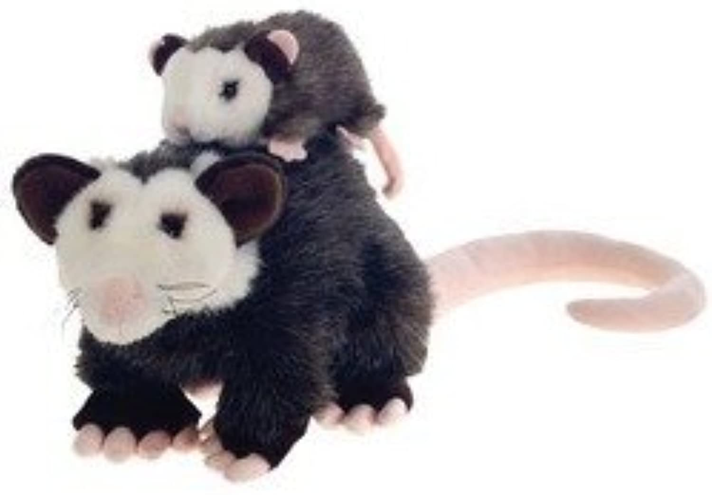 10 Plush Opossum Mama Possum with Baby Plush Stuffed Animal Toy by Fiesta Toys by Fiesta Toys