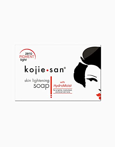 Kojie San Skin Lightening Kojic Acid Soap - 135g Fades age spots, freckles, and other signs of sun damage, heals acne blemishes and erases red marks and scars