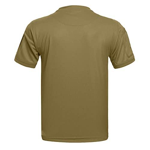 Hombres Camisas de manga corta Slim Fit Casual Verano Camisetas Transpirable Blusa Deportiva Top Cool Dry Stretch Secado Rápido Running Tops