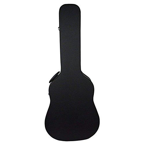 St.Oswalds Gitarrenkoffer Akustikgitarre Hartschale Gitarren Koffer Guitar Case 41 Zoll Schwarz