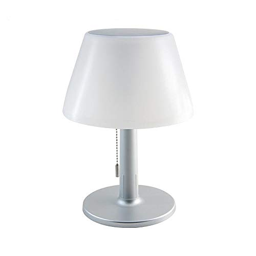 Sun-Light Tischleuchte, LED Solar Tischleuchte kabellos mit Akku Außenleuchte Beetbeleuchtung Indoor & Outdoor LED Tischlampe Solar Cell weiß