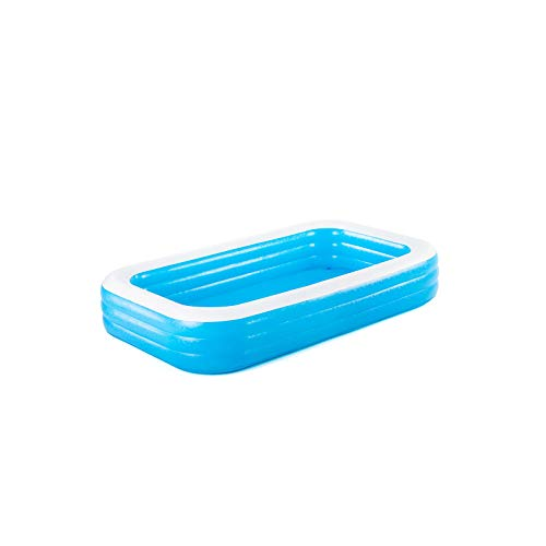 Bestway BW54009-20 Inflatable Family Pool, Blue Rectangular with Water Capacity 1,161L