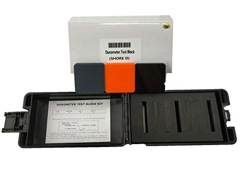 Shore Type D Hardness Test Block Kit with 3 Different Durometer Color Block Hard Rubber and Plastics Measurement