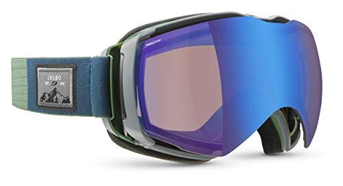 Julbo Aerospace Skibrille mit Reactic-Display, photochromatisch und polarisiert, für Herren, Grün/Grau, XL+