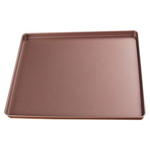 HEMOTON Rectangular Baking Pan Carbon Steel Nonstick Cookie Sheet Oven Cake Pan Baking Tray Bakeware for Bread Cookie Loaf