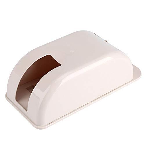 Mångsidig plastväskhållare, plastpåse förvaringsbox skräp väska organiserare dispenser väggmonterad (beige)