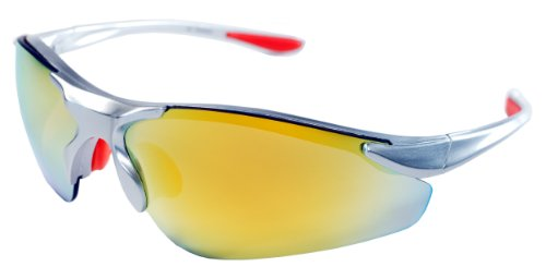 JiMarti TR15 Sunglasses for Golf, Fishing, Cycling-Unbreakable (Silver & Orange revo)