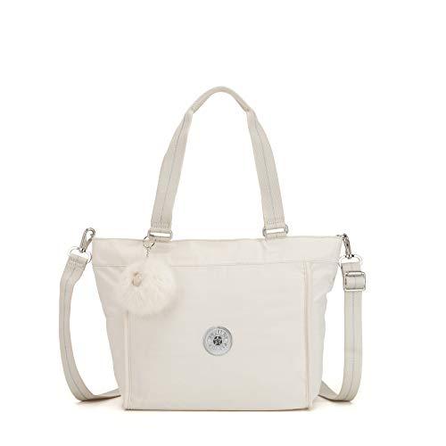Kipling New Shopper S - Borse Tote Donna, Bianco (Dazz White)
