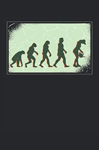 Gärtner Evolution: Notizbuch A5 liniert, Geschenk für die Naturliebhaber, Skitzzenbuch | Mattcover