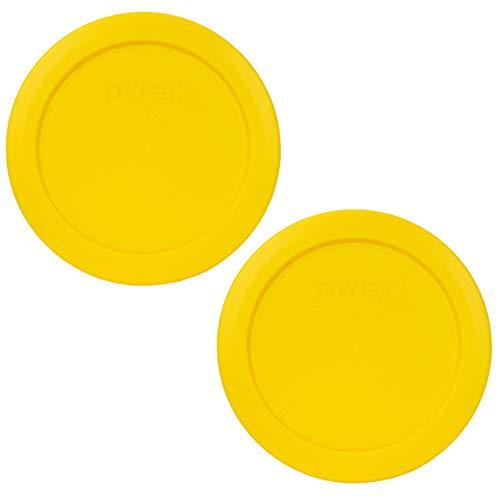 Pyrex 7200-PC Meyer Yellow Round Plastic Food Storage Lid - 2 Pack