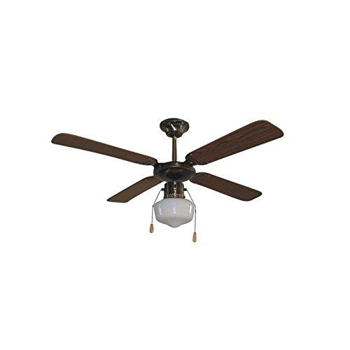 DUPI Import- Ventilador 107 CMS. 4 ASPAS. Color Marron.-14442042