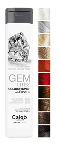Celeb Luxury Gem Lites Colorditioner, Semi-Permanent Professional Hair Color Depositing Conditioner, Silvery Diamond