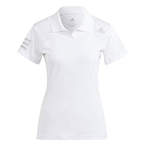 adidas Club Polo Damen-T-Shirt, Damen, Polo, GQ1178, Weiß/Gridos, L